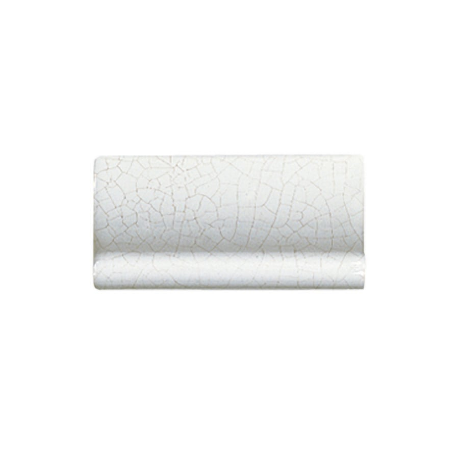 KOHLER 6-Pack Fables & Flowers White Glazed Porcelain Countertop Trim (Common: 3-in x 6-in; Actual: 3-in x 6-in)
