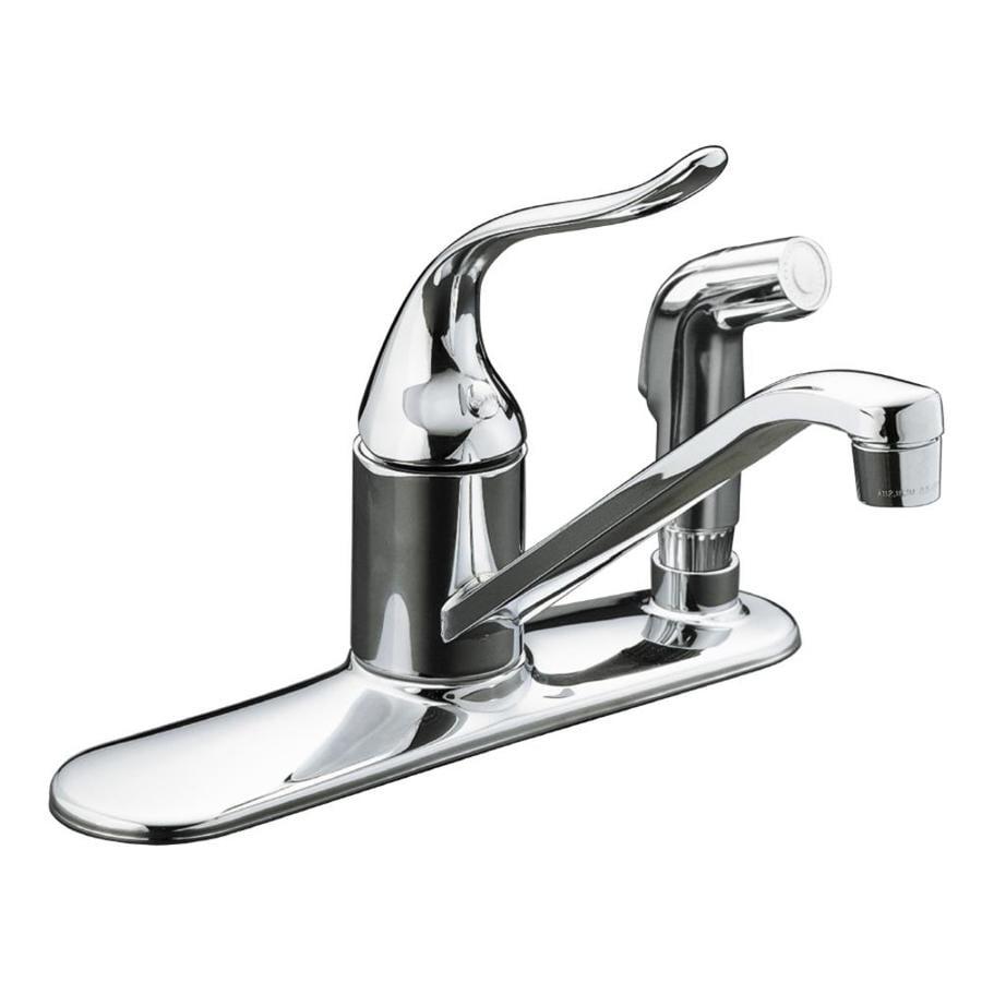 Kohler Coralais Shower Faucet Parts: Shop KOHLER Coralais Polished Chrome 1-Handle Low-Arc