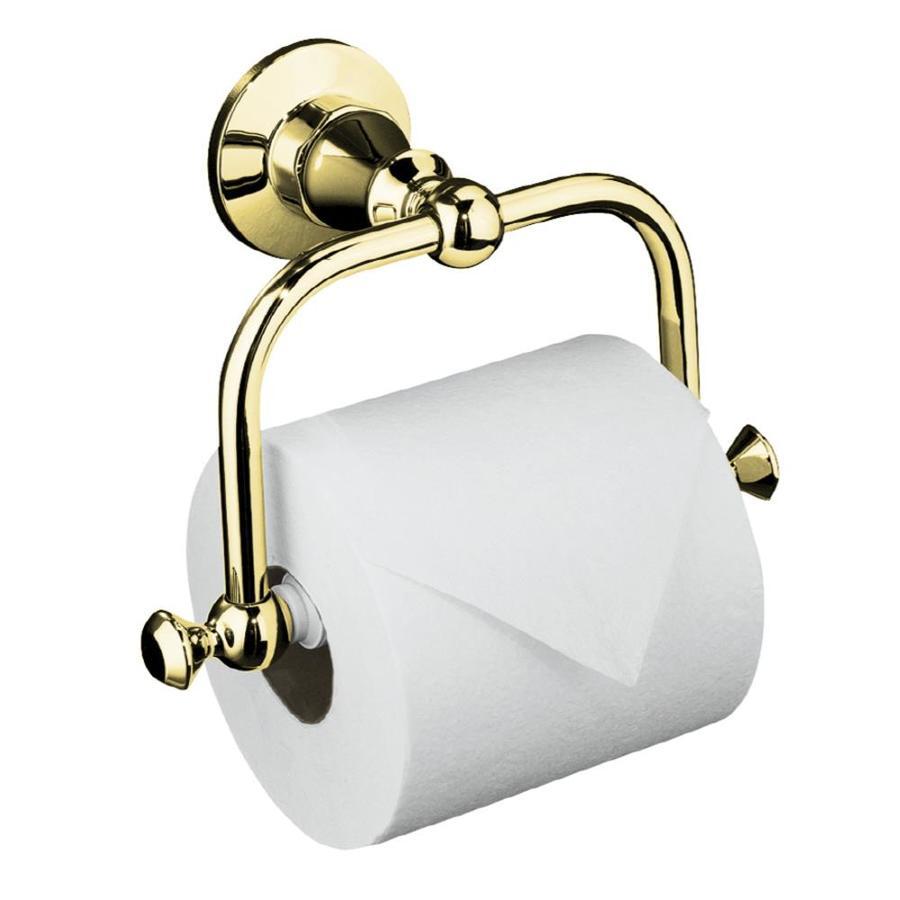 KOHLER Antique Vibrant Polished Brass Surface Mount Toilet Paper Holder