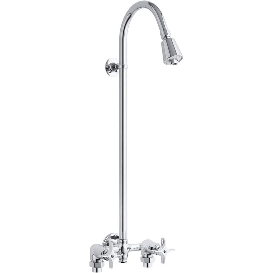 KOHLER Polished Chrome 2-Handle Shower Faucet with Single Function Showerhead
