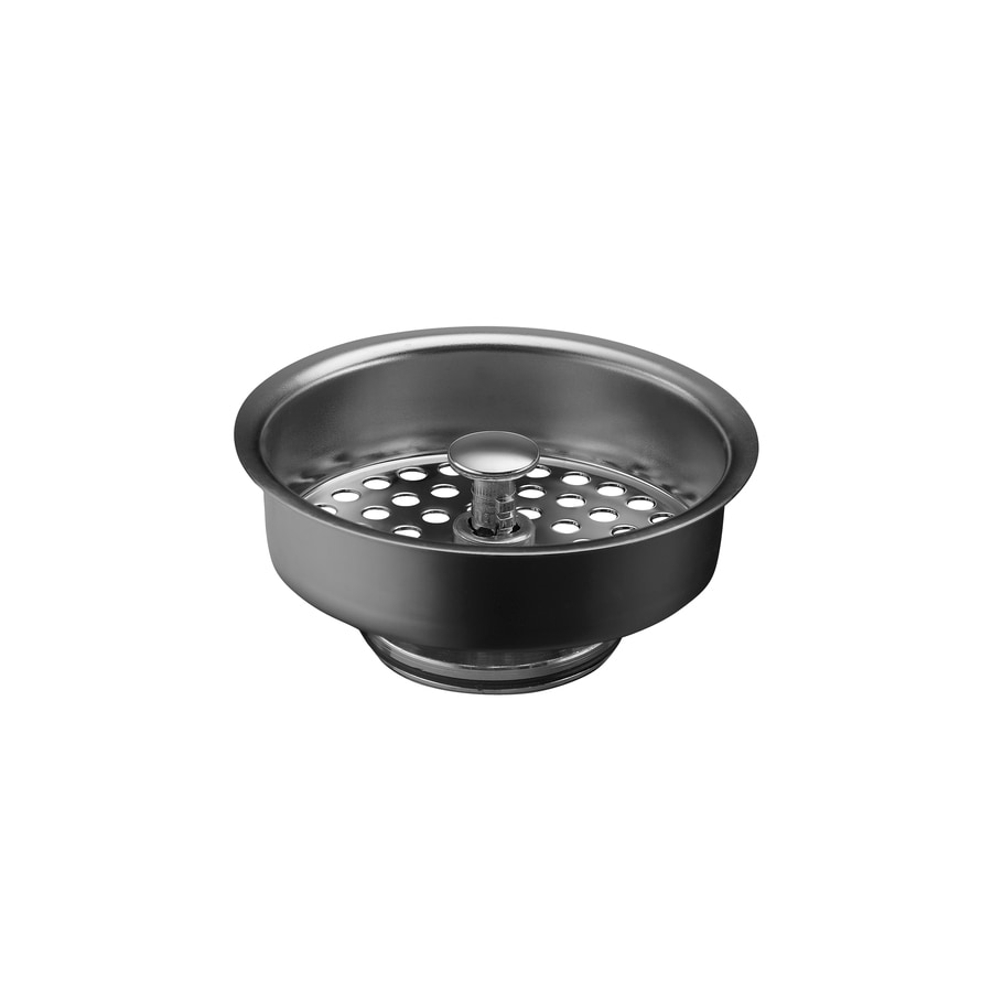 Shop KOHLER Duostrainer 4-in Polished Chrome Plastic Kitchen ...