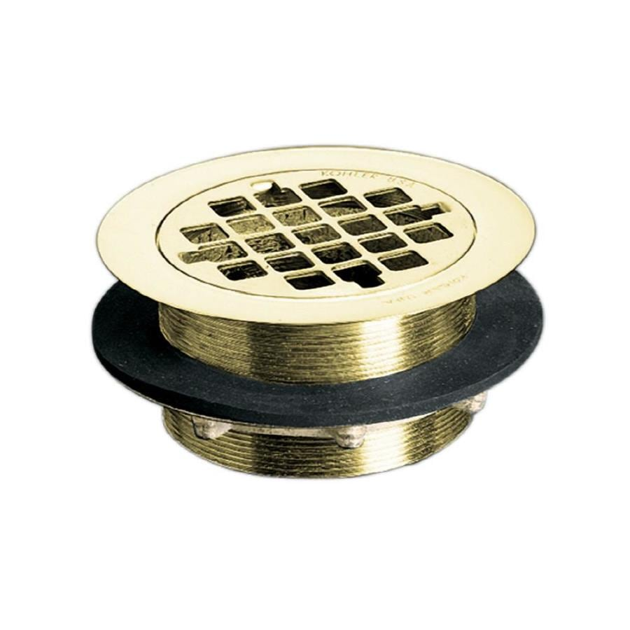 KOHLER 2-in Vibrant Polished Brass Strainer