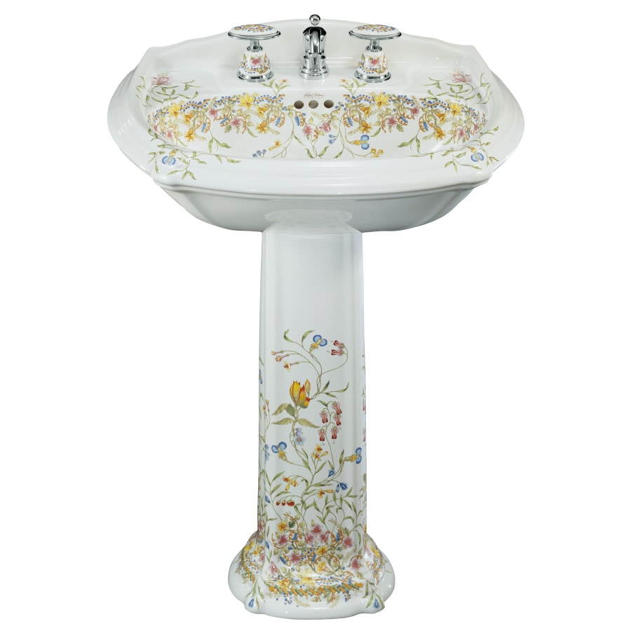 KOHLER Portrait 36.5-in H White Vitreous China Pedestal Sink