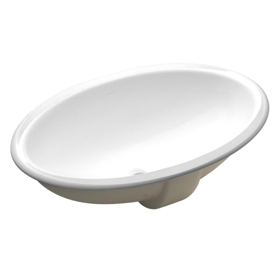 Shop Kohler Vintage White Undermount Oval Bathroom Sink
