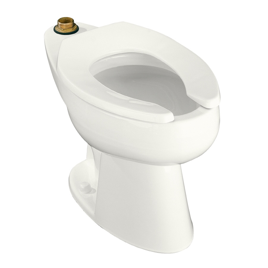 KOHLER Highcliff Chair Height White 10-in Rough-In Elongated Toilet Bowl