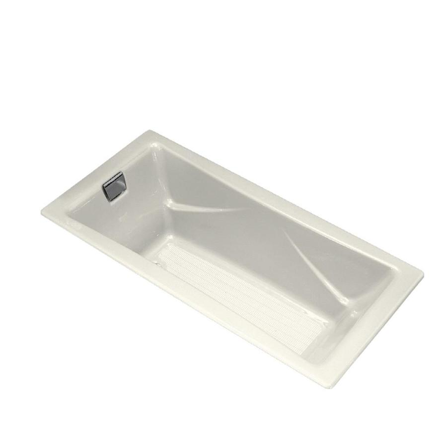 Shop Kohler Tea For Two 71 75 In Off White Cast Iron