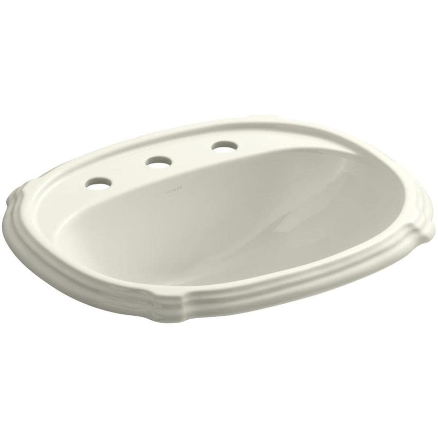 oval bathroom sinks drop in shop kohler portrait biscuit drop in oval bathroom sink 23895