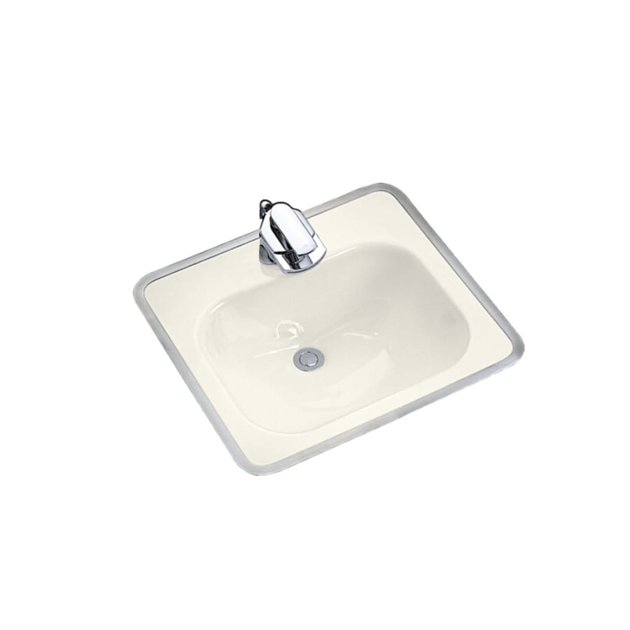 KOHLER Biscuit Cast Iron Drop-in Rectangular Bathroom Sink with Overflow