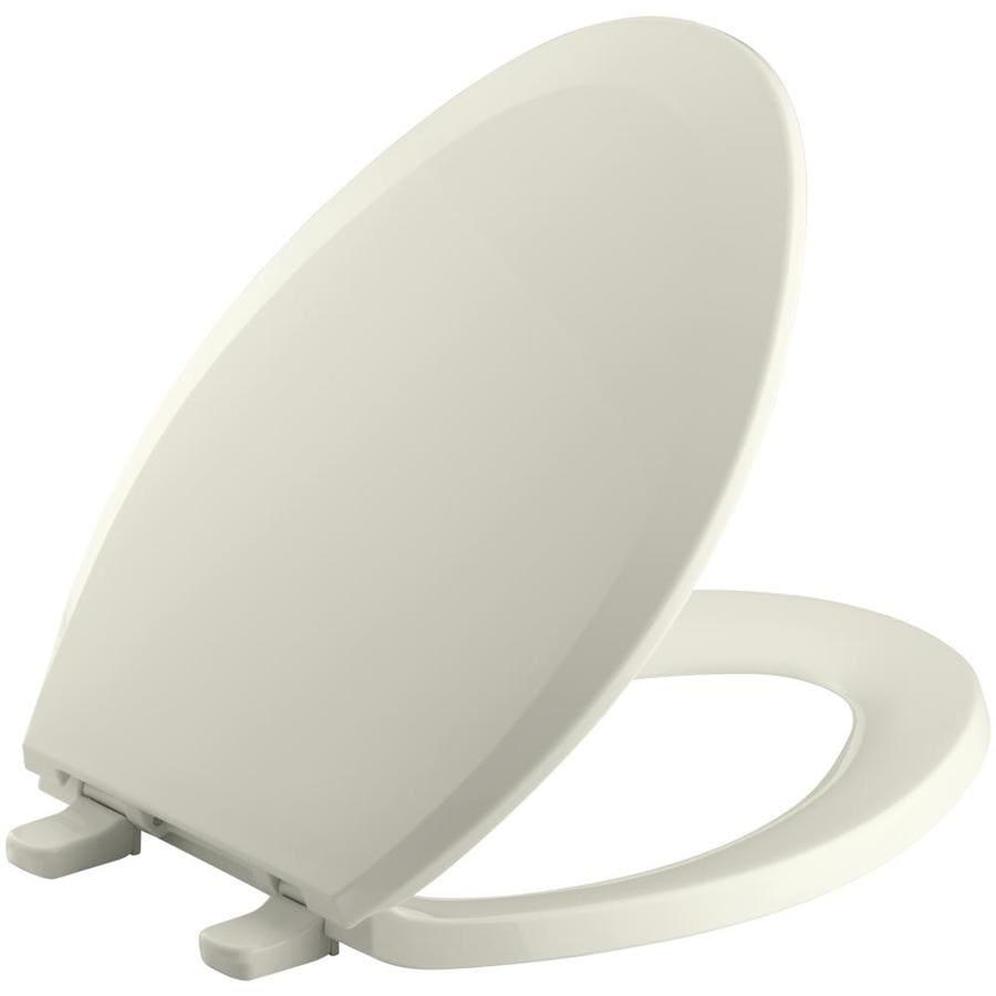 KOHLER Lustra Biscuit Plastic Elongated Toilet Seat