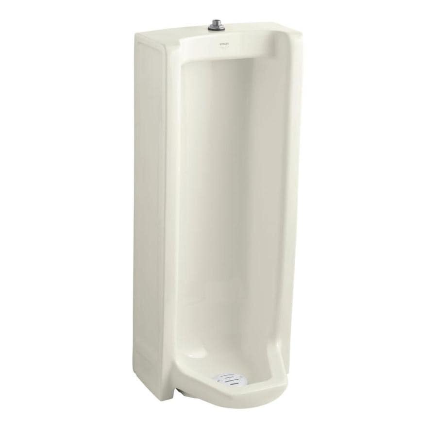 KOHLER 18.25-in W x 42.5-in H Biscuit Wall-Mounted Urinal