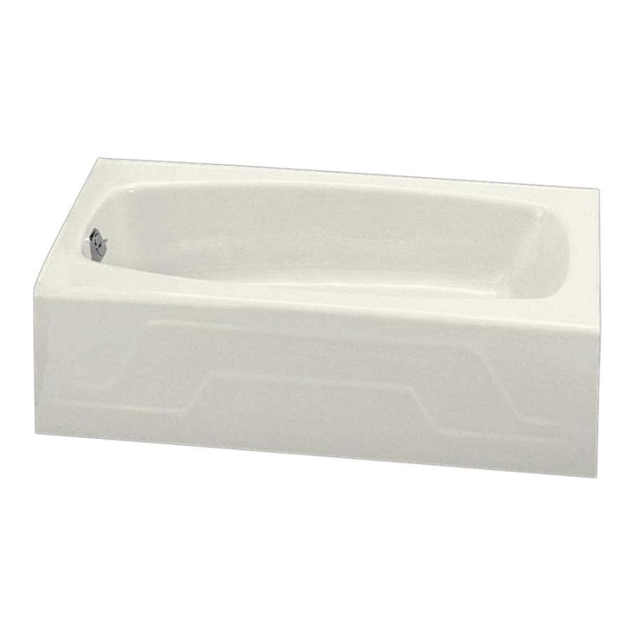 KOHLER Dynametric 60-in Biscuit Cast Iron Alcove Bathtub with Left-Hand Drain