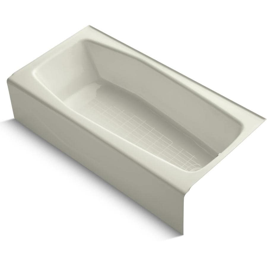 KOHLER Villager 60-in Biscuit Cast Iron Skirted Bathtub with Right-Hand Drain