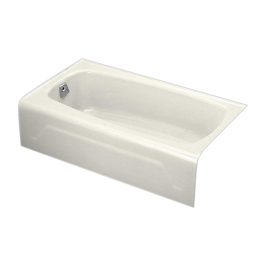 kohler seaforth biscuit cast iron rectangular skirted bathtub with