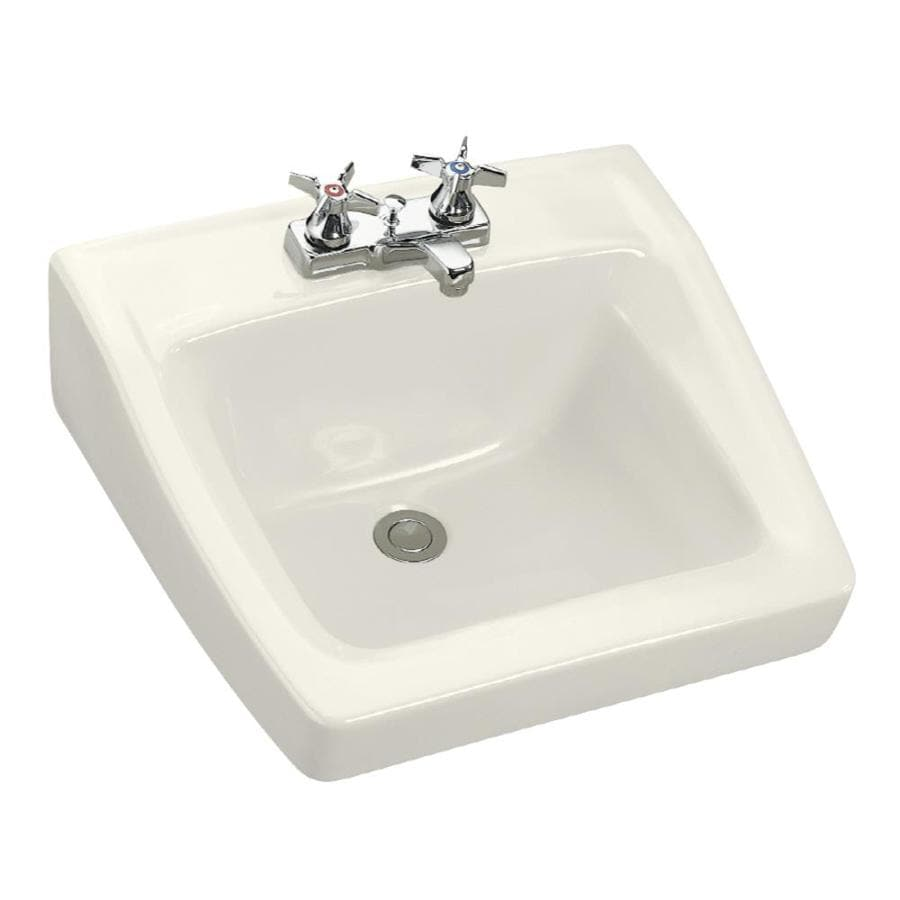 kohler square bathroom sink shop kohler chesapeake biscuit wall mount rectangular 19034