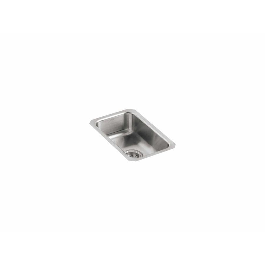 KOHLER Undertone 17.5-in x 15.75-in Stainless Steel Single-Basin Undermount Residential Kitchen Sink
