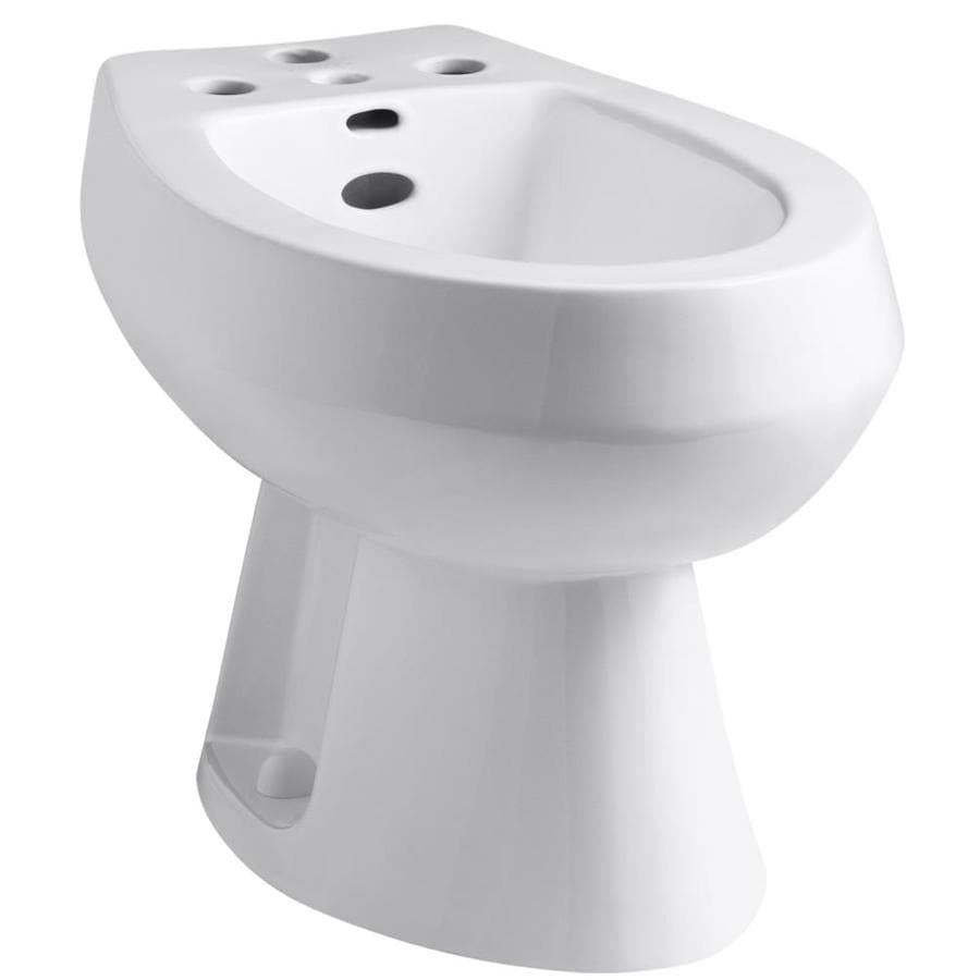 KOHLER San Tropez 15-1/2-in H White Elongated Bidet