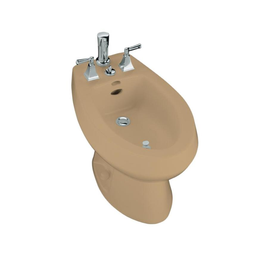 KOHLER San Tropez 15-1/2-in H Mexican Sand Elongated Bidet