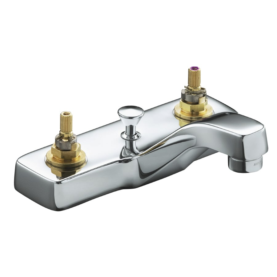 KOHLER Triton Polished Chrome 2-Handle WaterSense Bathroom Sink Faucet (Drain Included)