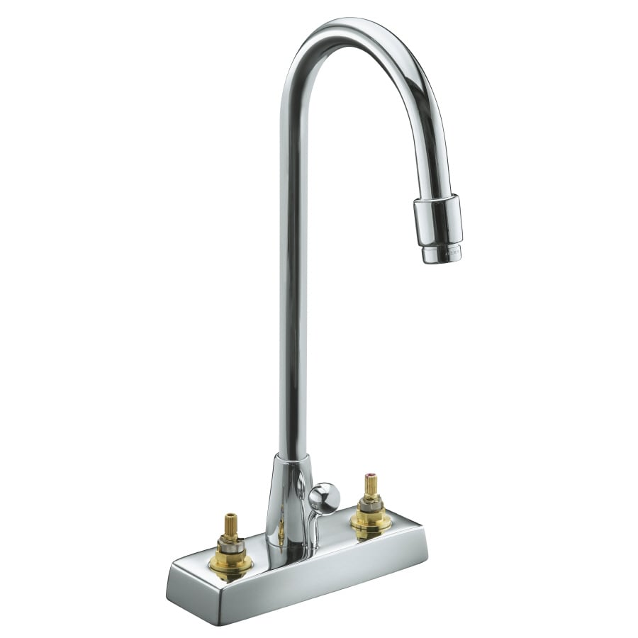 KOHLER Triton Polished Chrome 2-Handle WaterSense Commercial Bathroom Faucet (Drain Included)