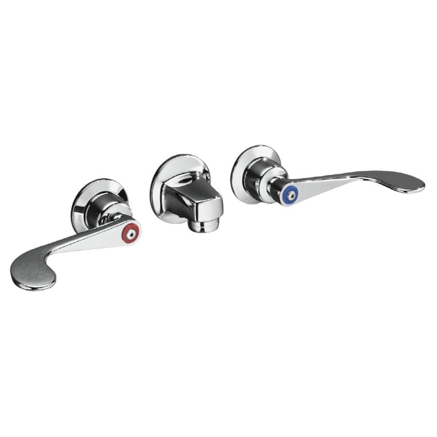 KOHLER Triton Polished Chrome 2-Handle Commercial Bathroom Faucet (Drain Included)