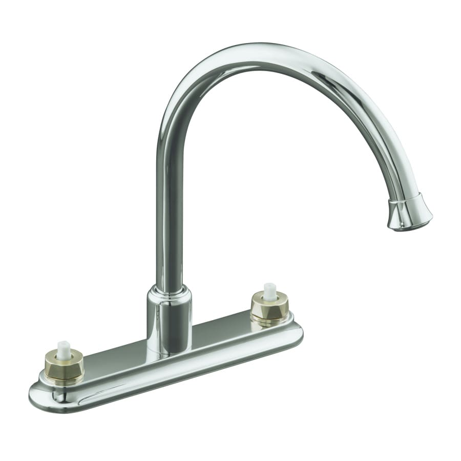 shop kohler coralais polished chrome 2 handle high arc kitchen faucet