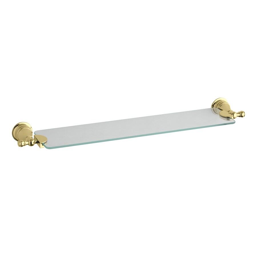 Shop KOHLER Revival Vibrant Polished Brass Glass Shelf at Lowes.com