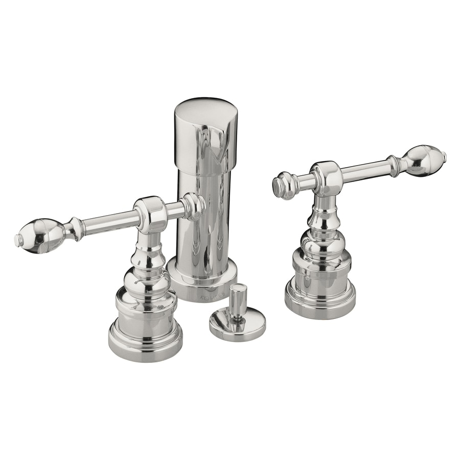 KOHLER IV Georges Vibrant Polished Nickel Vertical Spray Bidet Faucet