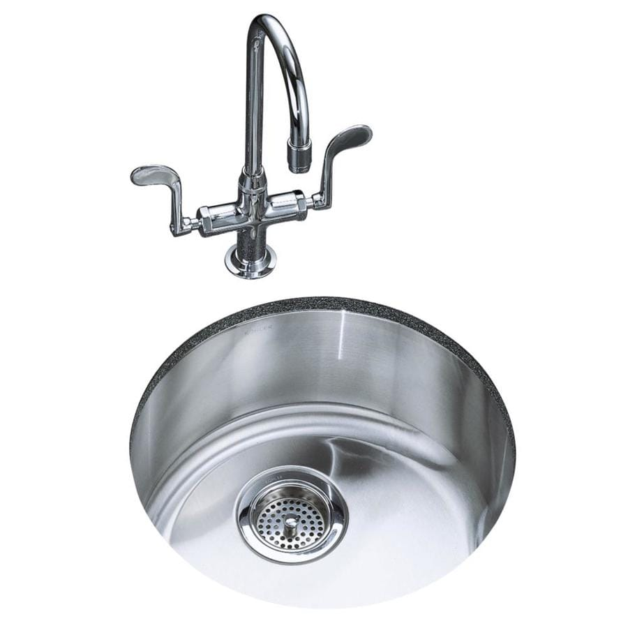 KOHLER Undertone/Lyric 18.37-in x 18.37-in Single-Basin Stainless Steel Drop-in or Undermount Residential Kitchen Sink