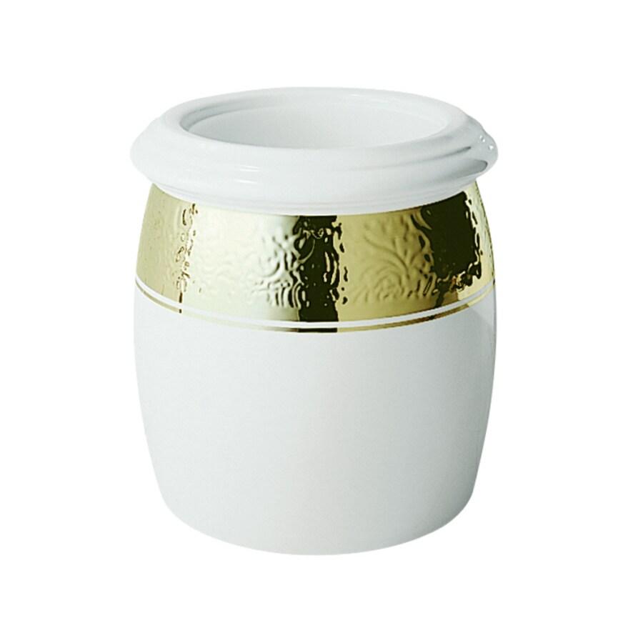 KOHLER Polished Gold Ceramic Wastebasket