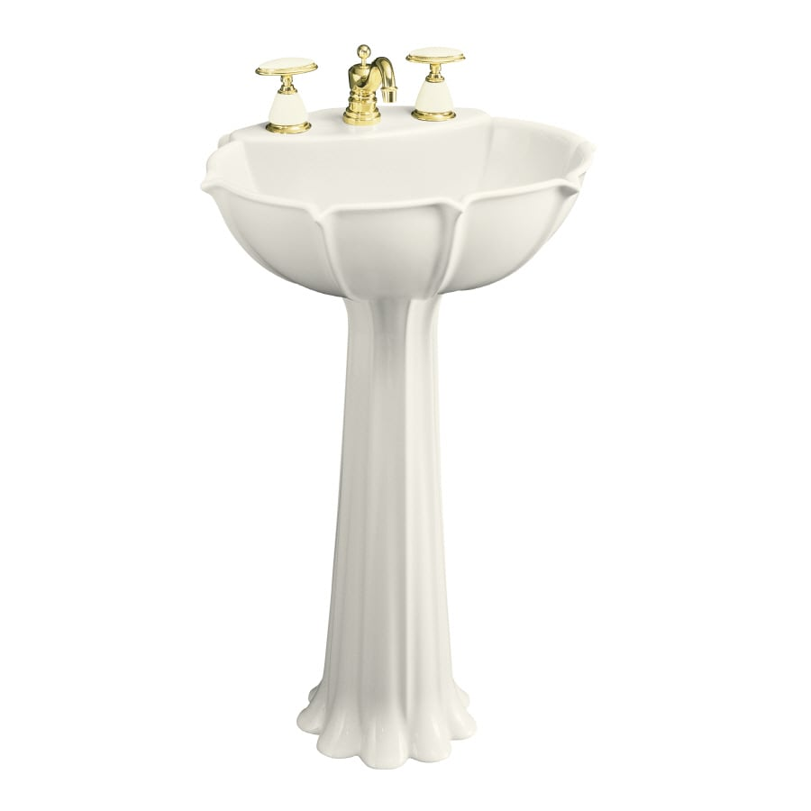 Kohler Pedestal Sink Lowes : Shop KOHLER Anatole 31.88-in H Biscuit Vitreous China Pedestal Sink at ...