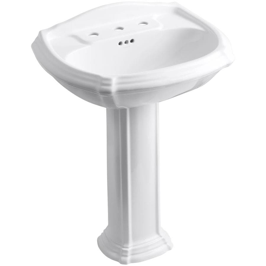bathroom sink white shop kohler portrait 36 5 in h white vitreous china 11456
