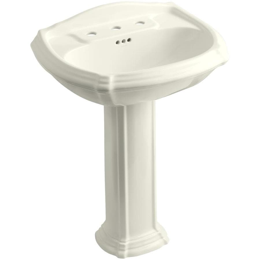 KOHLER Portrait 36.5-in H Biscuit Vitreous China Pedestal Sink