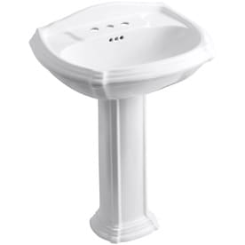 sink bathrooms pedestal corner for stock inset in lowes sinks of installation small cost