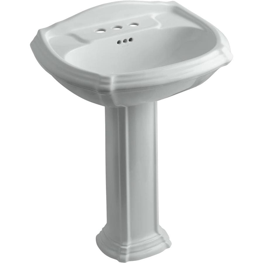 KOHLER Portrait 36.5-in H Ice Grey Vitreous China Pedestal Sink