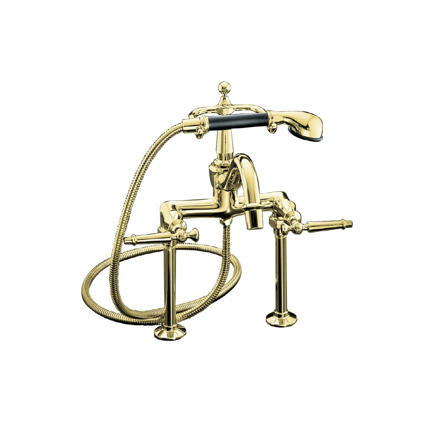 KOHLER Antique Vibrant Polished Brass 2-Handle Fixed Deck Mount Bathtub Faucet