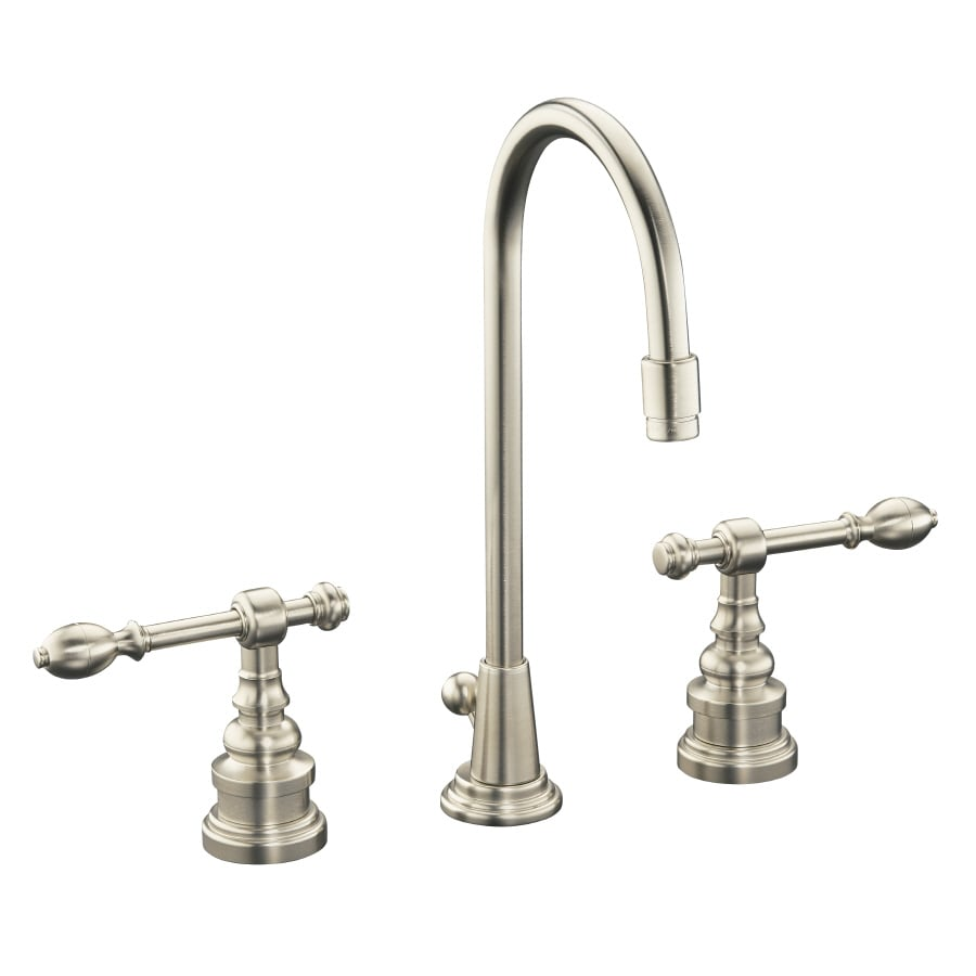 Shop KOHLER IV Georges Brass Vibrant Brushed Nickel 2-Handle ...