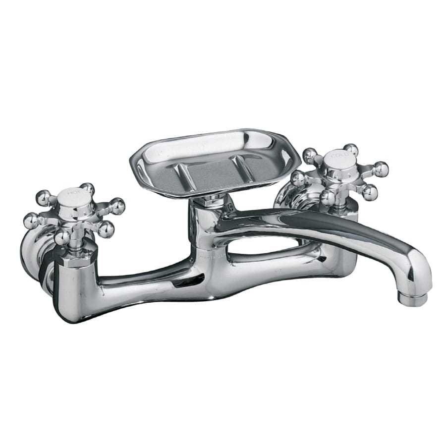 Shop KOHLER Antique Polished Chrome 2-Handle Low-Arc Wall