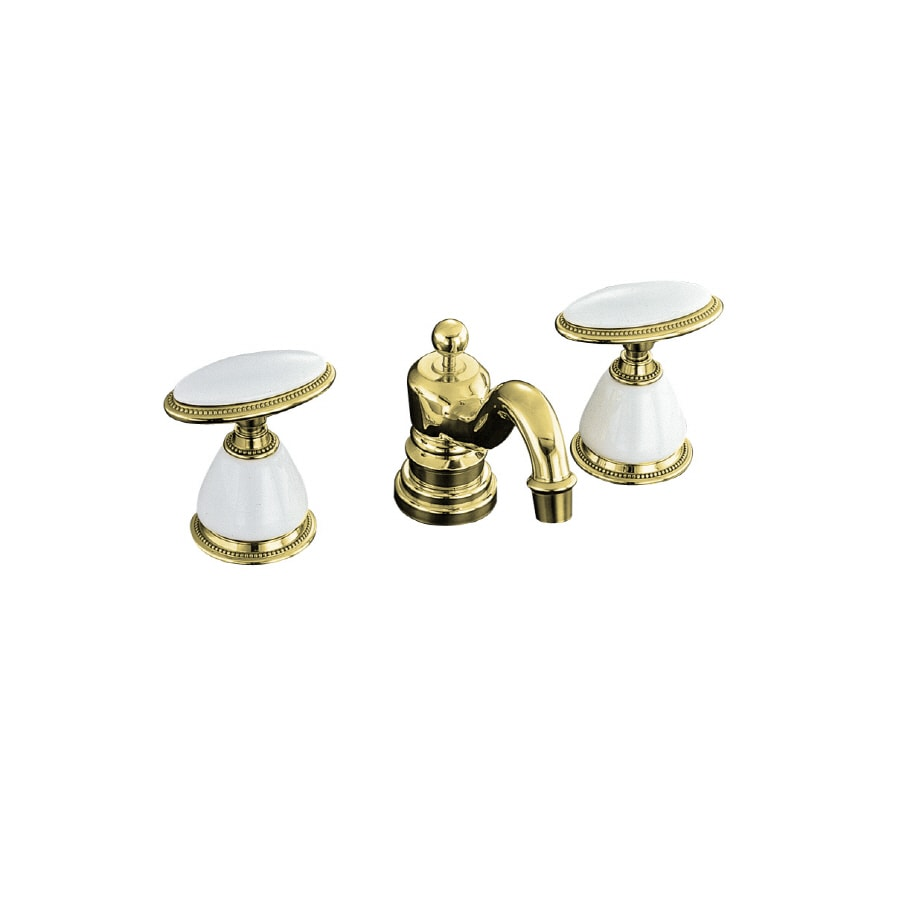 Kohler Antique Vibrant Polished Brass 2 Handle Widespread Bathroom