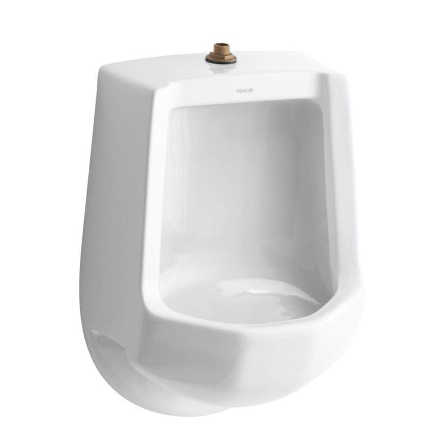 KOHLER 16.2500-in W x 24.0000-in H White Wall-Mounted Urinal