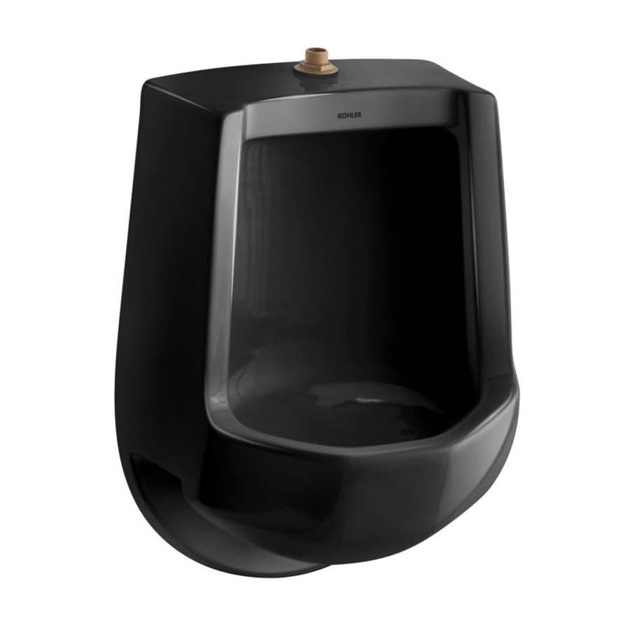 KOHLER 16.25-in W x 24-in H Black Black Wall-Mounted Urinal