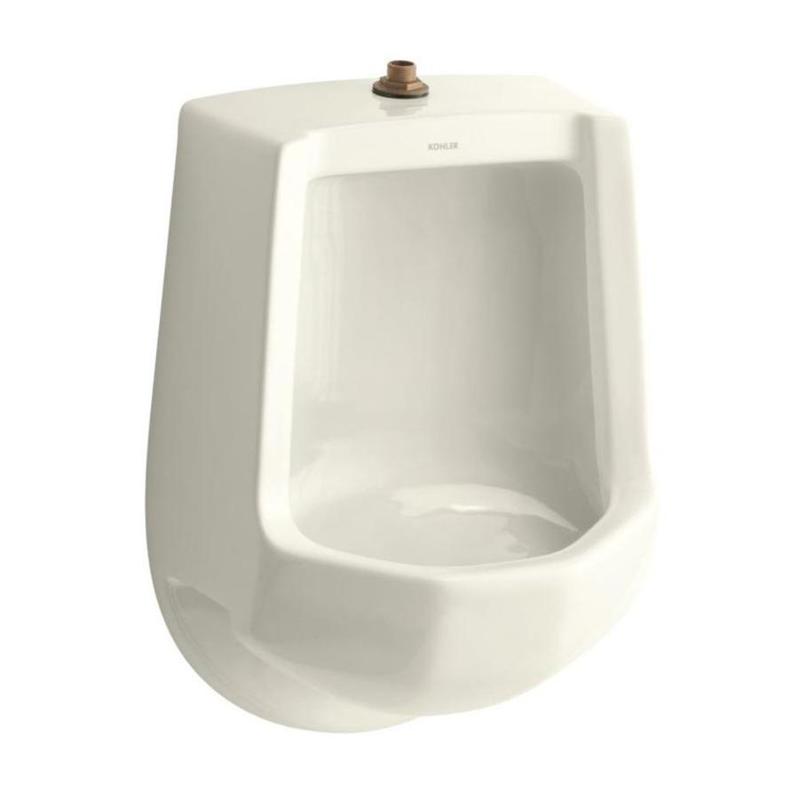 KOHLER 16.2500-in W x 24.0000-in H Biscuit Wall-Mounted Urinal