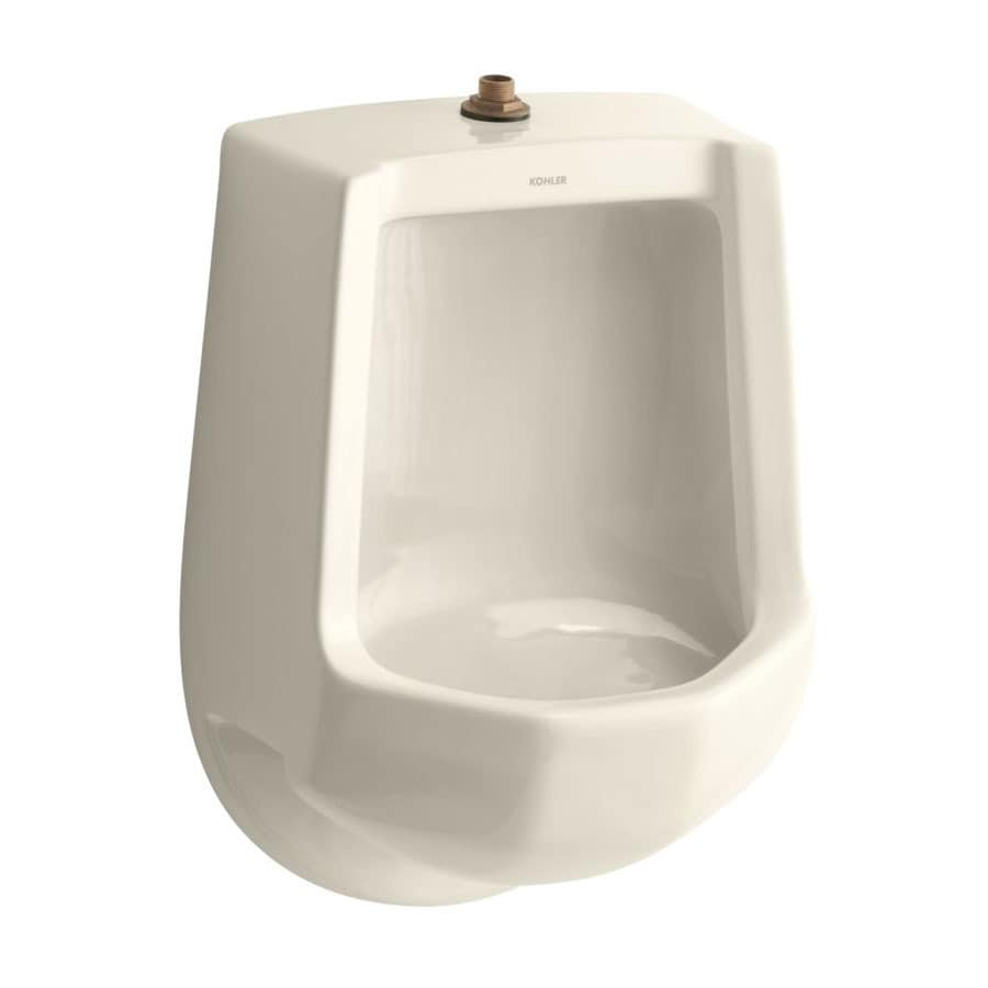 KOHLER 16.2500-in W x 24.0000-in H Almond Wall-Mounted Urinal