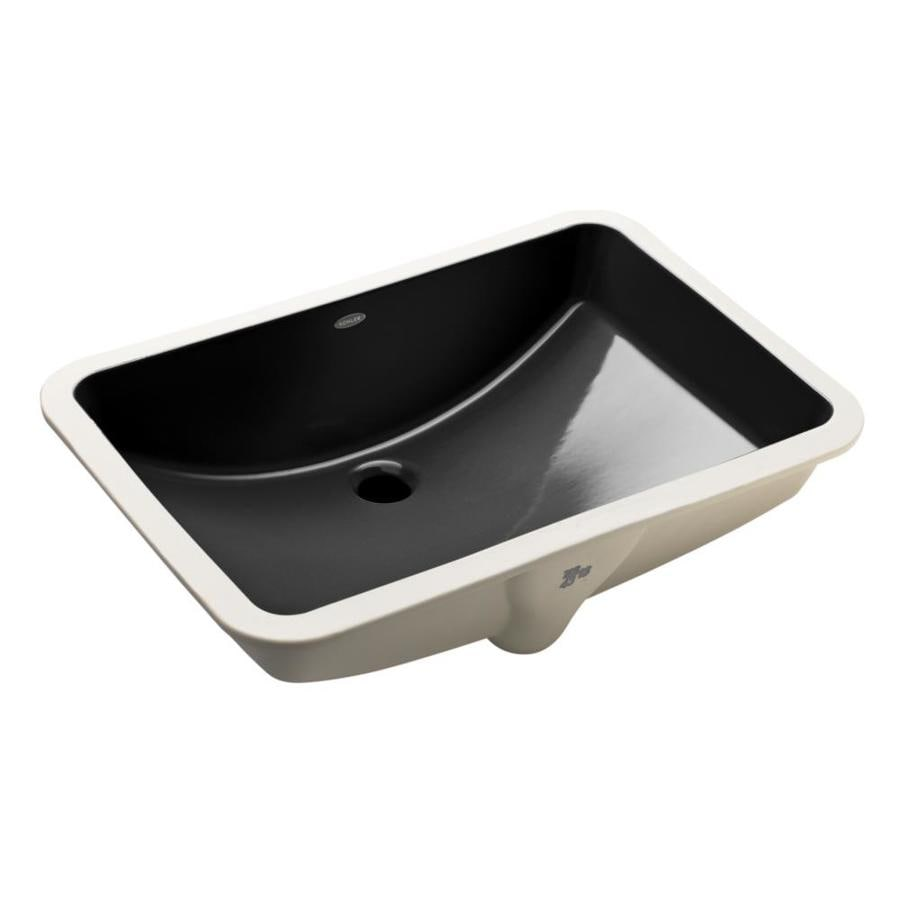 Kohler Ladena Black Undermount Rectangular Bathroom Sink