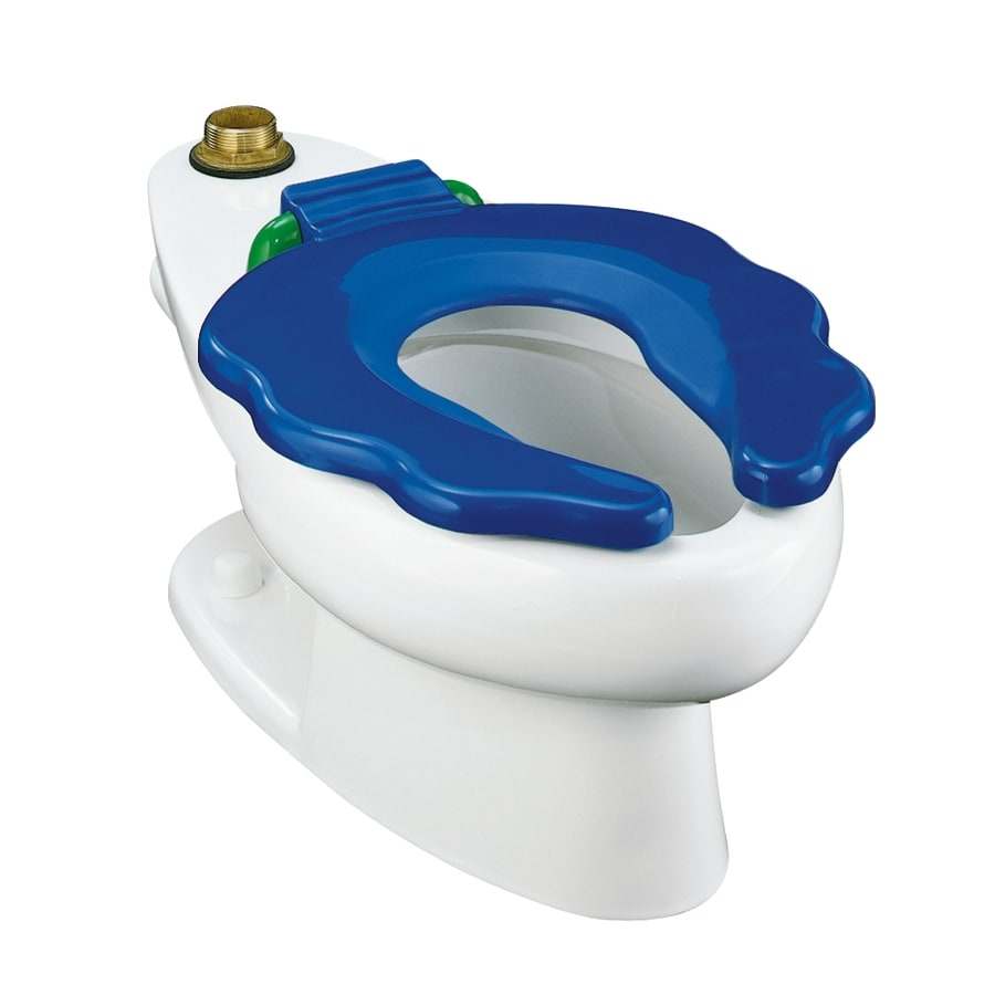 Shop KOHLER Primary White Elongated Children\'s Height Toilet Bowl at ...