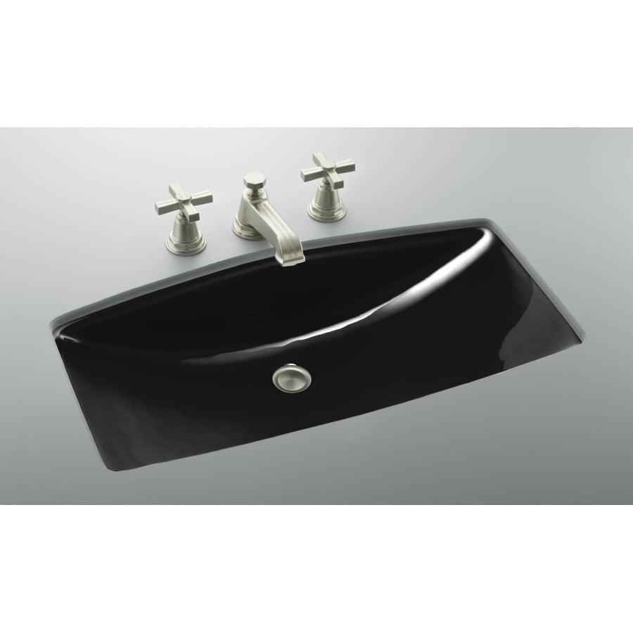 Cast Iron Bathroom Sinks Undermount: Shop KOHLER ManS Lav Black Black Cast Iron Undermount