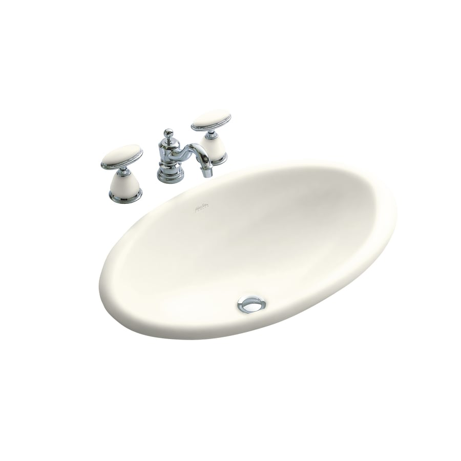 KOHLER Artist Edition Garland Biscuit Drop-in Oval Bathroom Sink