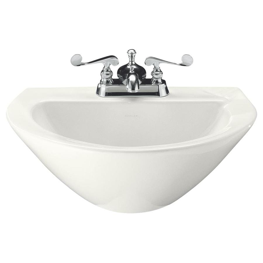 KOHLER Parigi 19.75-in L x 14-in W White Vitreous China Oval Pedestal Sink Top