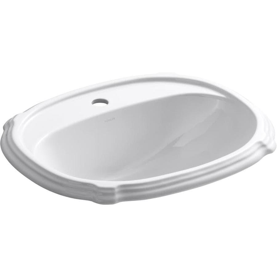Shop Kohler Portrait White Dropin Oval Bathroom Sink With