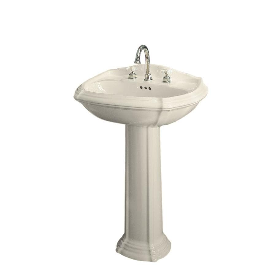 Kohler Pedestal : Shop KOHLER Portrait 36.5-in H Almond Vitreous China Pedestal Sink at ...