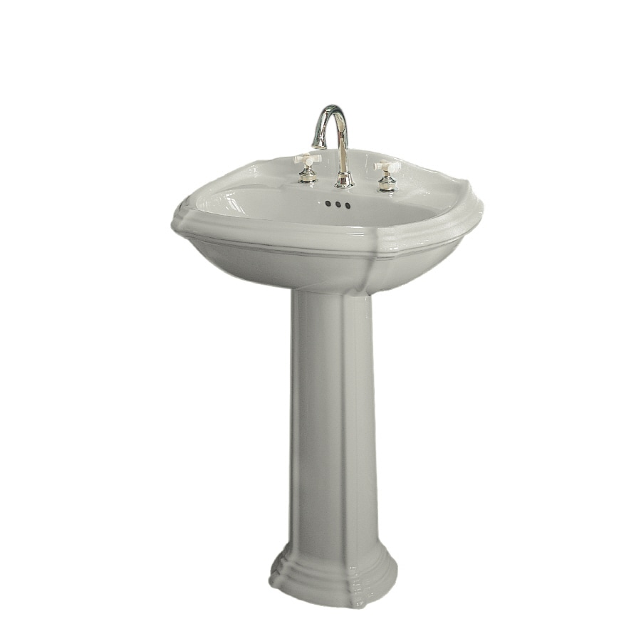 KOHLER Portrait 36.5-in H Ice Grey Vitreous China Pedestal Sink